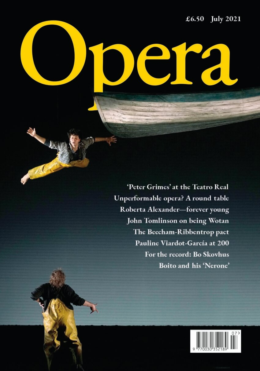 July 2021 opera cover