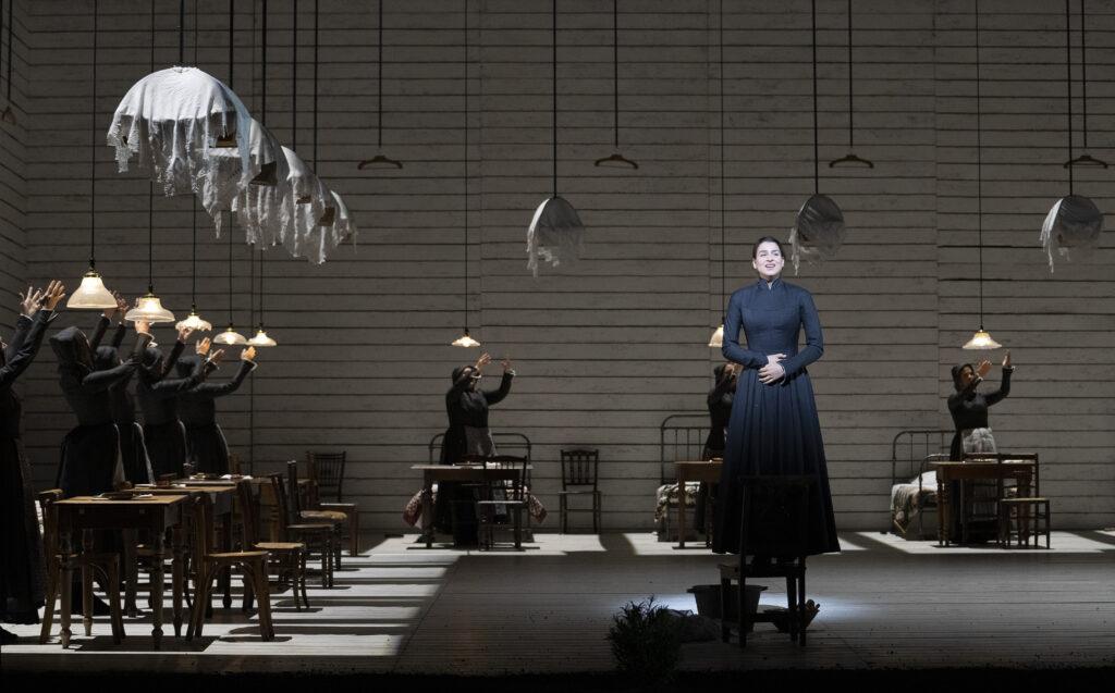 A scene from Jenufa by Leo? Jan‡?ek @ Royal Opera House. Directed by Claus Guth. (Opening 28-09-2021) ©Tristram Kenton 09-21 (3 Raveley Street, LONDON NW5 2HX TEL 0207 267 5550  Mob 07973 617 355)email: tristram@tristramkenton.com